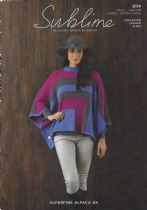 Sublime Superfine Alpaca DK - 6114 Poncho Knitting Pattern